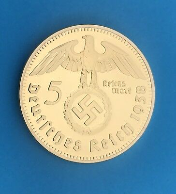 Germany 5 Reichsmark, 1oz 40mm 24k  Gold Clad Token. (Special-Buy 2 Get 3)