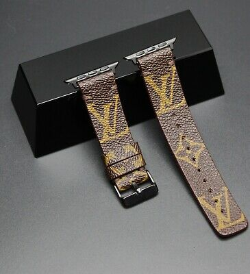 LV Authentic Re-purposed Classic Monogram Apple Watch Band 38/40/42/44mm