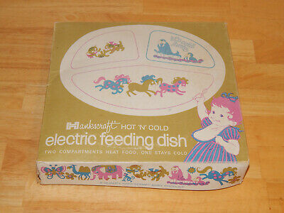 Vintage Hankscraft Childs Hot N Cold Electric Feeding Dish.