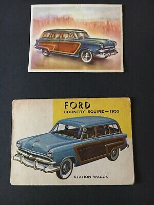 Topps World On Wheels no. 94 Ford Country Squire 1953 And Bonus