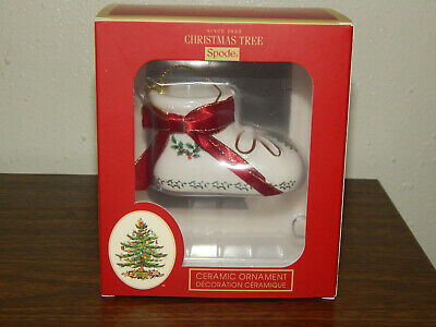 New Spode Baby's First Christmas Bootie Dated 2019 Porcelain Ornament