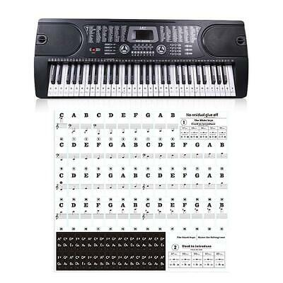 Universal 54/61/88 Keys Piano Keyboard Stickers Music Piano Decals for Learner