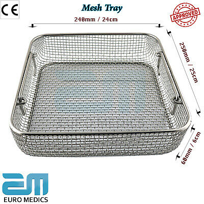 Sterilization Mesh Tray Surgical Instruments Holder Perforated 24cm x 25cm x 6cm