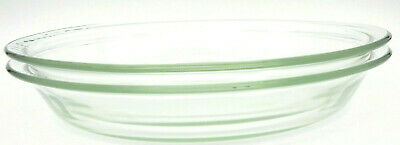 PYREX Clear Glass Pie Plate Two 9in. 23cm  #209-14 USA Bakeware Plates Cookware