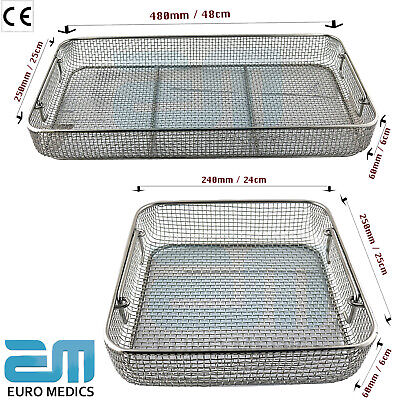 Sterilisation Mesh Tray Perforated Instruments Rack Autoclave Stainless Steel CE