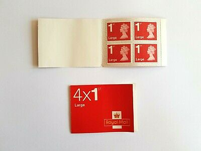 New Royal Mail Stamps - FIRST 1st CLASS Book of 4 x LARGE Letter Stamps