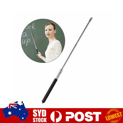 Hand Pointer Extendable Telescopic Classroom Whiteboard Pointer Pen Black O