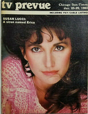 Chicago Sun-Times TV Prevue Jan 1983 - Susan Lucci A Siren Named Erica - VG