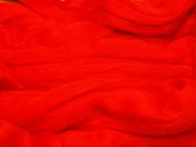 Red Merino Wool dyed fibre roving / tops  - 50g needle felting / hand spinning
