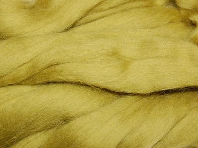Olive green Merino Wool Fibre roving / tops - 50g- needle felting hand spinning
