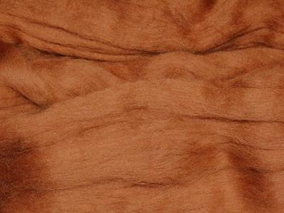 Brown Merino Wool dyed Fibre roving / tops - 50g - hand spinning  needle felting