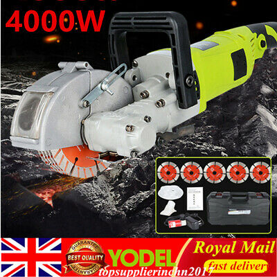 Electric Wall Chaser Groove Cutting Slotting Machine 4000W, 125mm Saw blade