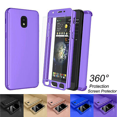 For Samsung Galaxy J7 Crown/Top/Star 360° Full Body Hard Case+Screen Protector