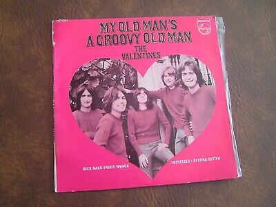 "The Valentines Oz 45 Ep ""My Old Man's A Groovy Old Man"" RARE"