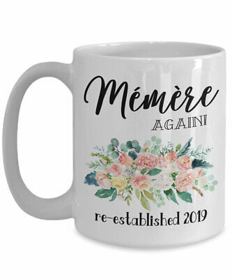 Memere Again Mug Pregnancy Reveal Gift For Grandparents Baby Announcement Coffee