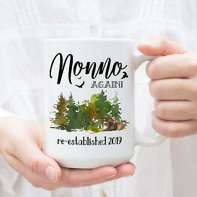 Nonno Again Mug Pregnancy Reveal Gift For Grandparents Baby Announcement Coffee
