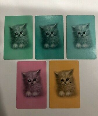 Vintage Swap Cards - 5 x Giordano Kittens