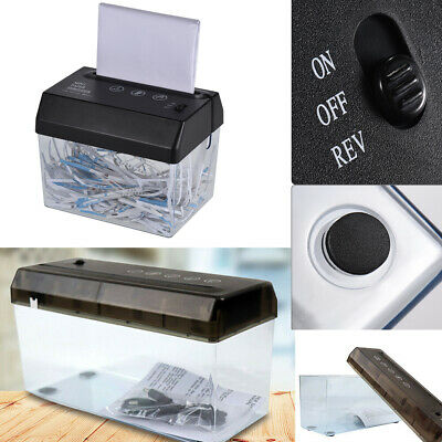 Portable A4//A5//A6 Compact Manual Hand Operated Strip Document Paper Shredder WI1