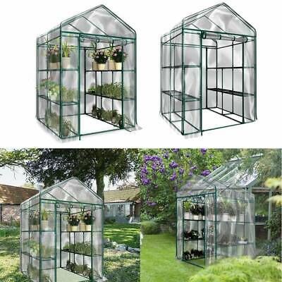 3 4 5 Tier Mini Greenhouse Walk In Grow Bag Green House PVC Cover Plastic Garde