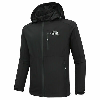 Full zip coat outdoor hooded jacket casual spring autumn soft shell boy shirt