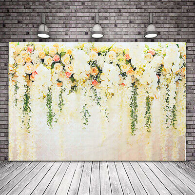 Flower Wall Backdrop Photography Wedding Photo Background Studio Props 4.9X6.9FT