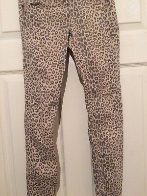 Next Girls Leopard Print Trousers Age 10 Years