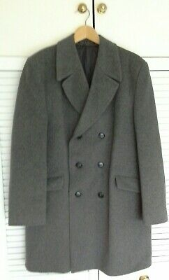 Vintage Dunn & Co grey wool and cashmere overcoat