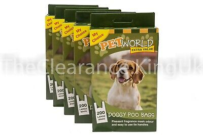 1000 DOGGY BAGS - Pet Dog Cat Poo Poop Pooper Scooper Waste Bag Toilet Clean