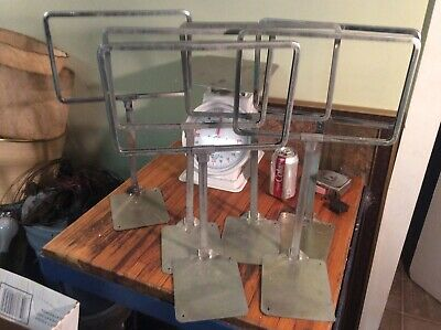 "24 Used Retail Bulletin Sign Holder/Stand, Chrome, 17"" Tall, Holds 11"" x 7"" Sign"