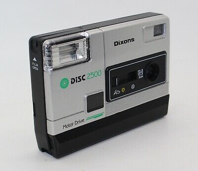 Dixons Disc 2500 Motor Drive Pocket Disc Camera with case – Testing and working