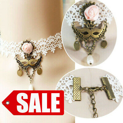 5 Lace Charms WHITE Crochet Thread Connector Links Boho charm 30mm chs5367