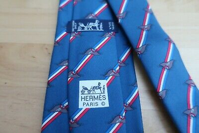 Hermes Tie Excellent Condition 9cm RRP £160