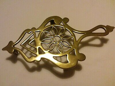 Vintage Brass Trivet Pot Kettle Flat Iron Stand
