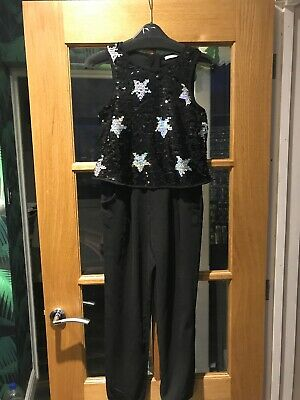 M&S KIDS Girls Sequin Jumpsuit Age 10-11 Years VGC ideal Christmas Day Outfit