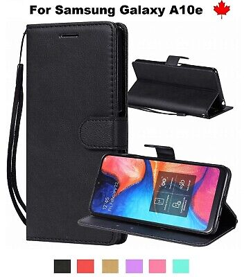 For Samsung Galaxy A10e - Wallet Stand Leather Credit Card Slots Case Cover