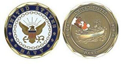 U.S NAVY RETIRED Challenge Coin-Eagle Crest 2296