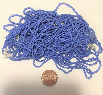 Antique Italian Micro Seed Beads-15//0 Royal Blue transparent-3.8 gram bags