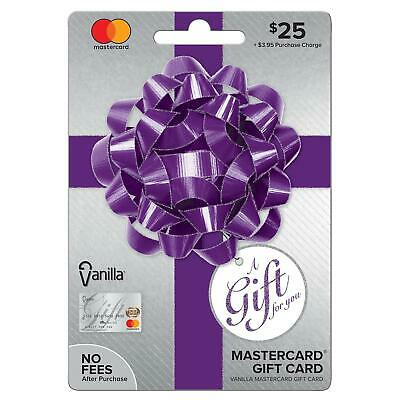 $25 Gift Card. Activated, No Additional Fees.  Ready to Use! Free Shipping!!