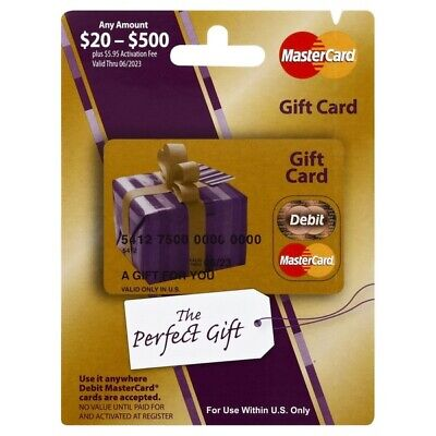 $20 Gift Card. Activated, No Additional Fees.  Ready to Use! Free Shipping!!