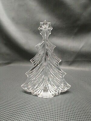 "Waterford Crystal 7.5"" Christmas Tree Sculpture Figurine w/Star Made in Ireland"