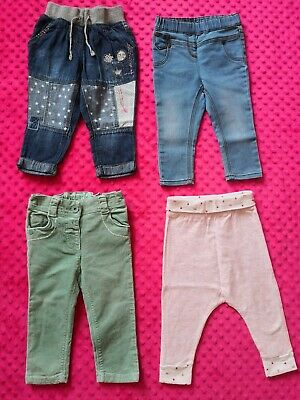 Next Baby Girl jeans trousers bottoms bundle size 9-12 months