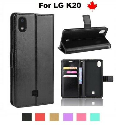 For LG K20 (LMX120WM) Wallet stand Leather Flip Credit Card Slots Case Cover