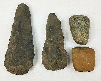 4 Ancient Stone Age Neolithic Ax Adze