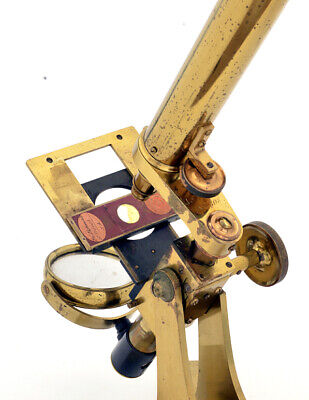 C.19th Early Andrew Ross brass microscope (1848)