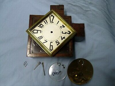 Vintage Art Deco Japy Freres French Wooden Mantle Clock Pieces Spares & Repairs