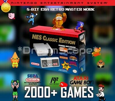 NES Classic Edition Nintendo Entertainment System Mini Console 2000+ Games