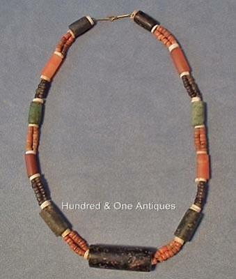 Antique Pre-Columbian Tairona Culture Semi Precious Stones Necklace 500-1500 A.D
