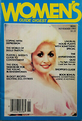 Women's Guide Digest November 1982 - Dolly Parton Cover - VG