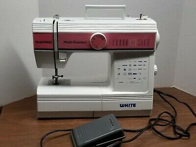 Vintage White Sewing Machine Model W445 Multifunction