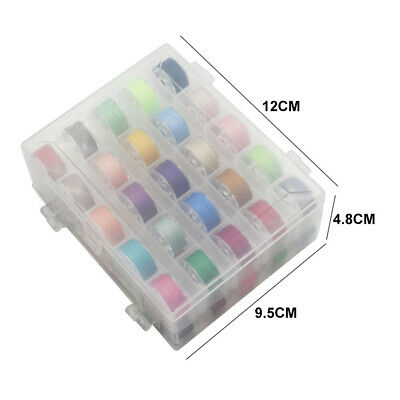 Home Mixed Colors Double Layer Bobbin Case Thread Sewing Accessories Set